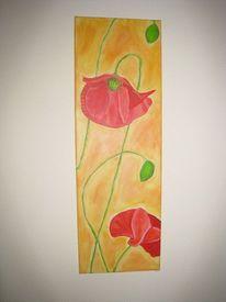 Blumen, Gelb, Klatschmohn, Rot