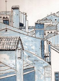 Zeichnung, Tusche, Farben, Zeichnungen