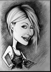 Karikatur, Zeichnung, Paris, Bleistiftzeichnung
