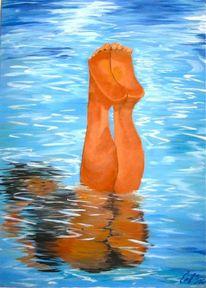 Licht, Spiegelung, Wasser, Malerei