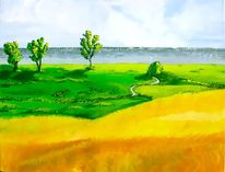 Landschaft, Malerei, Usedom