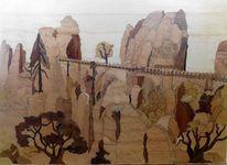 Intarsienbilder, Kunsthandwerk, Holz, Schweiz