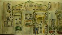 Tabacchi, Fassade, Werbung, Wasser