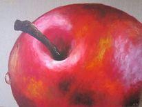 Acrylmalerei, Rot, Apfel, Tropfen