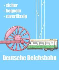 Reichsbahn, Deutsch, Zeichnungen, Typisch ddr
