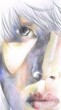 Polychromos joker beast, Zeichnungen, Portrait, Joker