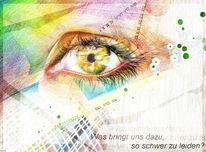 Polychromos auge farben, Zeichnungen, Portrait