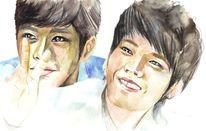 Woohyun, Unendlichen, Polychromos, Aquarellmalerei