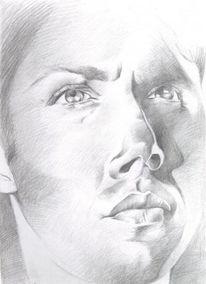 Übernatürlich, Winchester, Bleistiftzeichnung, Zeichnung