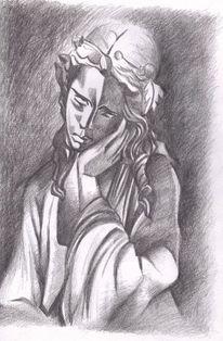 Bleistiftzeichnung, Zeichnung, Zeichnungen, Statue