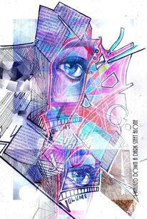 Polychromos photoshop collage, Mischtechnik