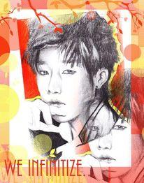 Zeichnung, Bleistiftzeichnung, Sunggyu, Unendlichen