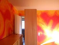Warm, Volltonfarbe, Wandgestaltung, Gestaltung