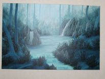Wasserfall, Mystik, See, Fantasie