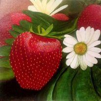 Blüte, Stillleben, Pflanzen, Erdbeeren
