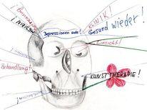 Menschen, Haider, Heilung, Bleistiftzeichnung