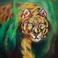 Tiger, Katze, Abstrakt, Wald