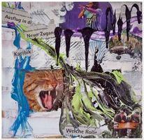 Absrtakte collage, Malerei, Abstrakt, Collage