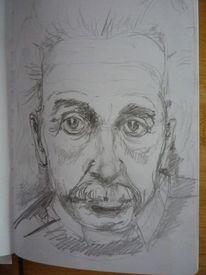 Mann, Physiker, Skizze, Bleistiftzeichnung