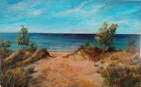 Sand, Malerei, Meer, Wasser