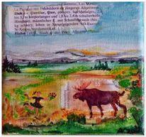 Landschaft, Elch, Briefmarken, Miniatur