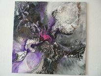 Fantasie, Schwarz weiß, Lila, Collage