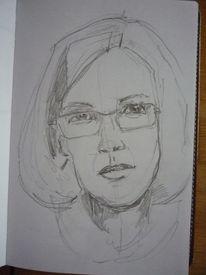 Portrait, Frau, Skizze, Zeichnungen