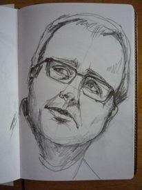 Bleistiftzeichnung, Portrait, Skizze, Zeichnungen