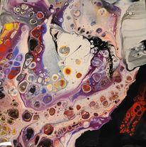Pouring, Acrylmalerei, Schütten, Zelle