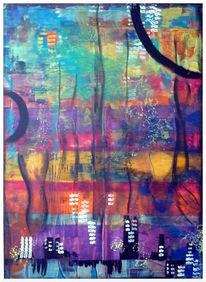 Fantasie, Abstrakt, Windungen, Häuser
