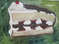 Schokolade, Weiß, Torte, Rot