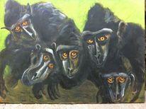 Urwald, Tiere, Affe, Malerei