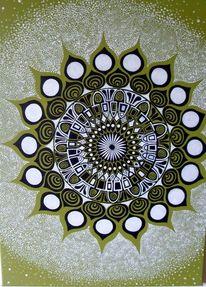 Farben, Malerei, Mandala