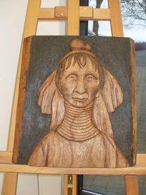 Holz, Skulptur, Portrait
