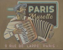 Musette, Paris, Frankreich, Blues painting