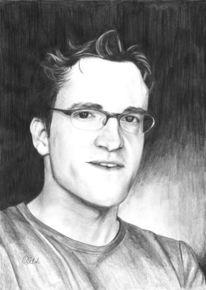 Brille, Portrait, Bodo wartke, Zeichnung
