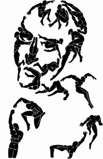 Figure face bewegung, Zeichnungen, Surreal,