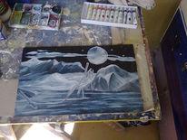 Eis, Mond, Schnee, Dunkel