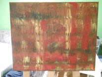 Rot schwarz, Gelb, Malerei, Abstrakt