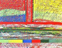 Vernissage, Abstrakt, Ausstellung, Dialog