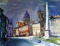 Italien, Reggio nell´emilia, Stadtansichten, Piazza