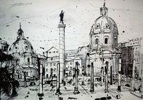 Italien, Stadtlandschaft, Zeitgenössisch, Forum romanum