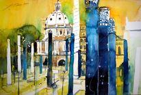 Kirche, Aquarellmalerei, Rom, Italien