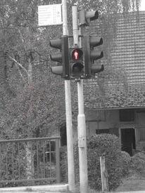 Rot schwarz, Weiß, Ampel, Fotografie