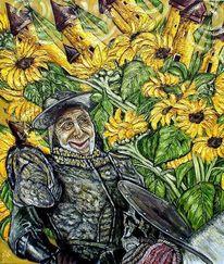 Berndtart, Sonnenblumen, Don quijote, Windmühle