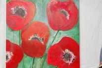 Mohn, Blumen, Rot, Malerei