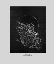 Fantasie, Malerei, Motorrad, Fahrt