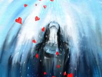 Ausdruck, Herz, Digital, Frau