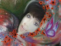 Farben, Selbstportrait, Schmetterling, Frau