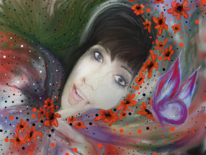 Fantasie, Frau, Bunt, Farben